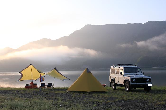 西湖 キャンプ