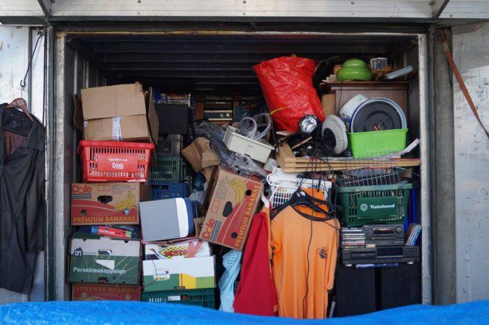 キャンプ道具の収納