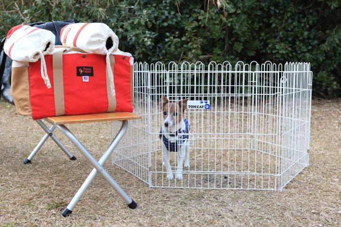 ペット キャンプ 犬 サークル