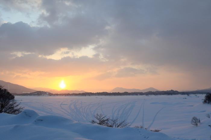 檜原湖冬キャンプの朝 (5)