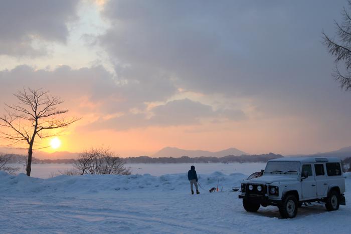 檜原湖冬キャンプの朝 (4)