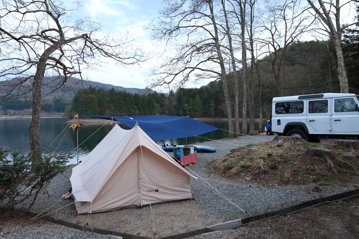 夕方キャンプサイト (2)
