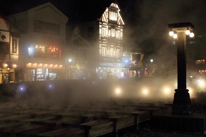 草津夜の湯畑