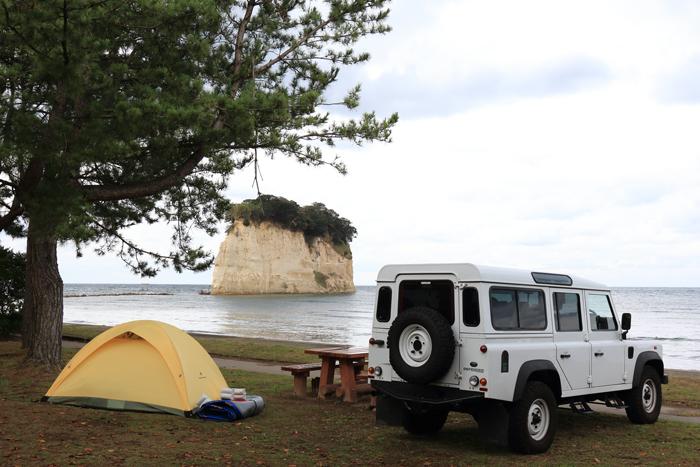 キャンプ場見附島