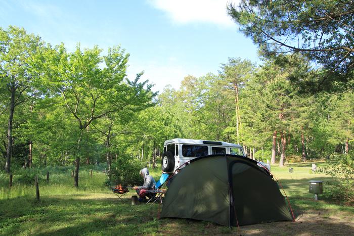 キャンプたき火 (1)