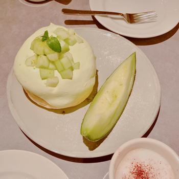 メロンのパンケーキ