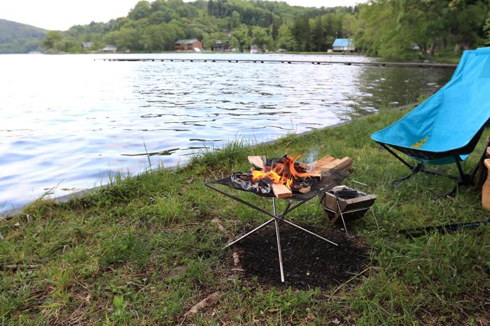 野尻湖キャンプ焚火