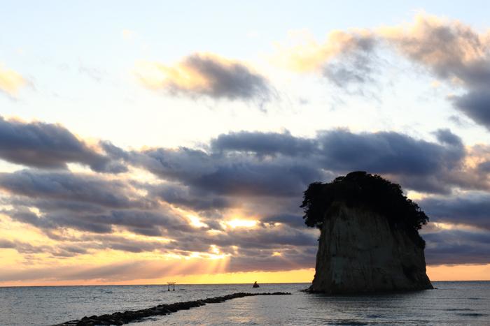 見附島キャンプ朝 (6)