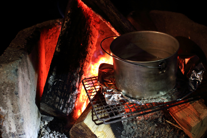 夜焚火キャンプ
