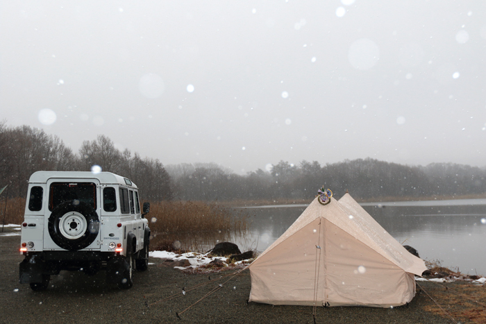 猪苗代湖冬キャンプ