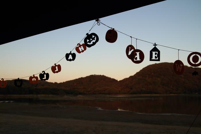 夕暮れの猪苗代湖キャンプ (2)