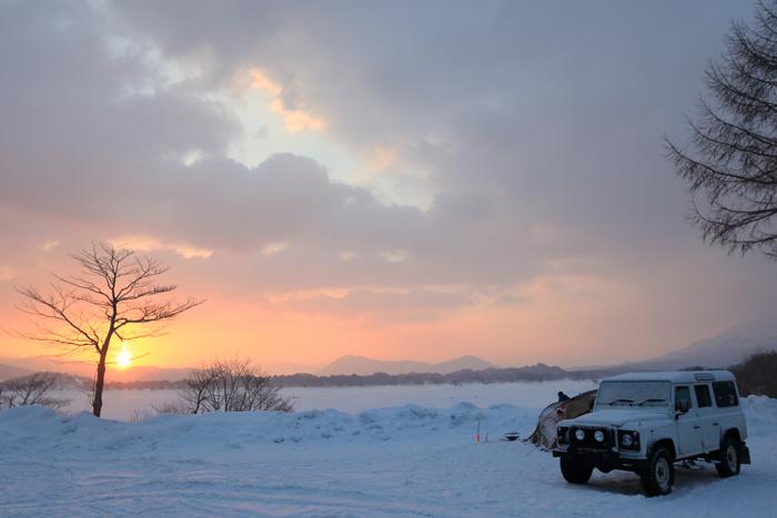 檜原湖冬キャンプの朝 (2)