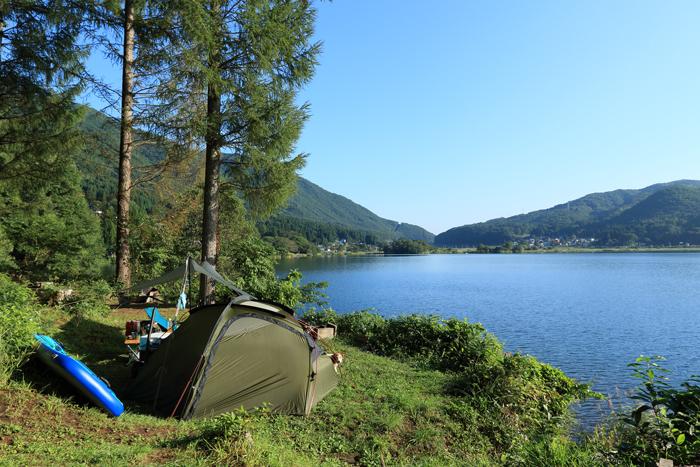 木崎湖2 (1)キャンプ