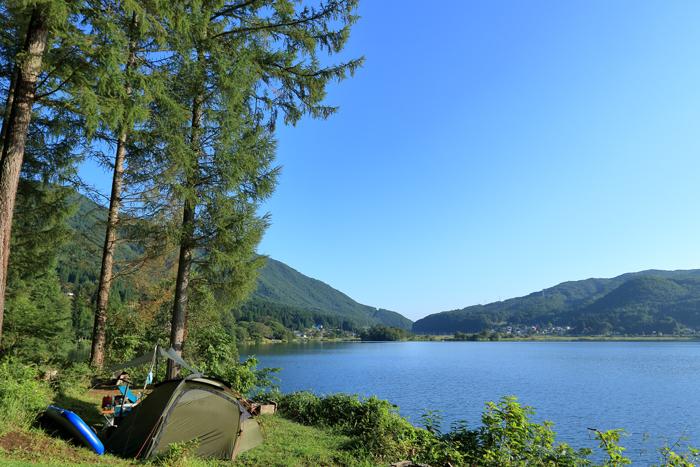 湖キャンプ
