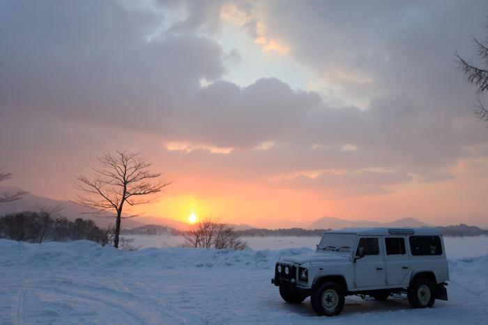 檜原湖冬キャンプの朝 (1)