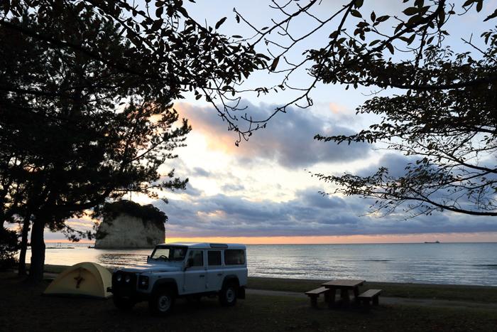 見附島キャンプ朝 (3)