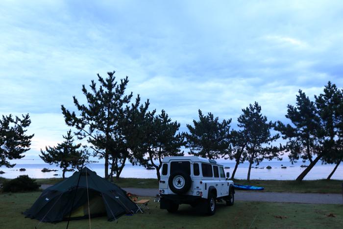 キャンプ場朝 (2)
