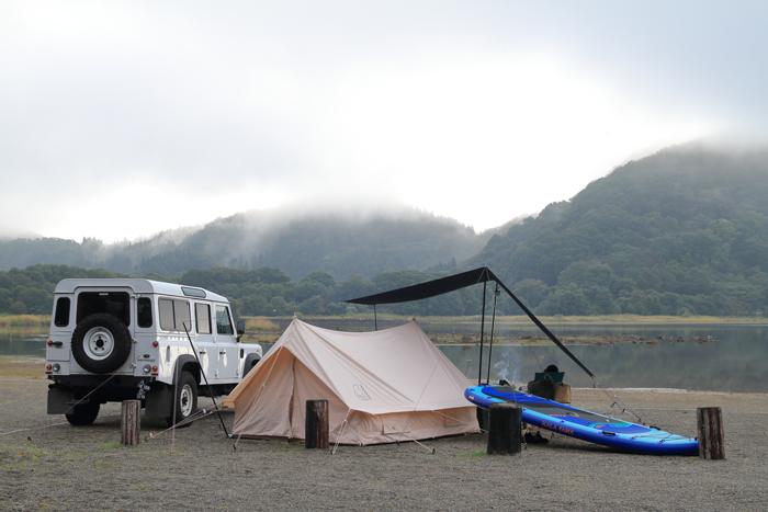 夕方キャンプ