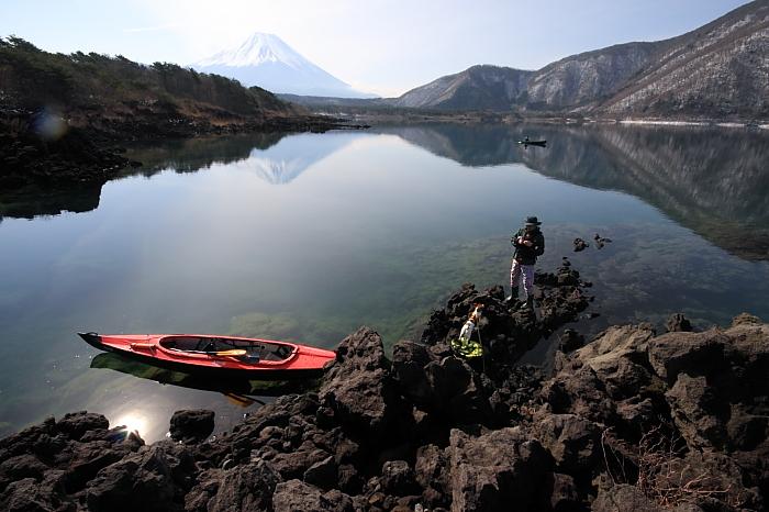 本栖湖カヤックキャンプ