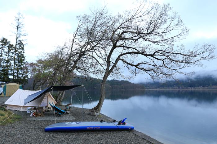 夕方雨キャンプ (2)