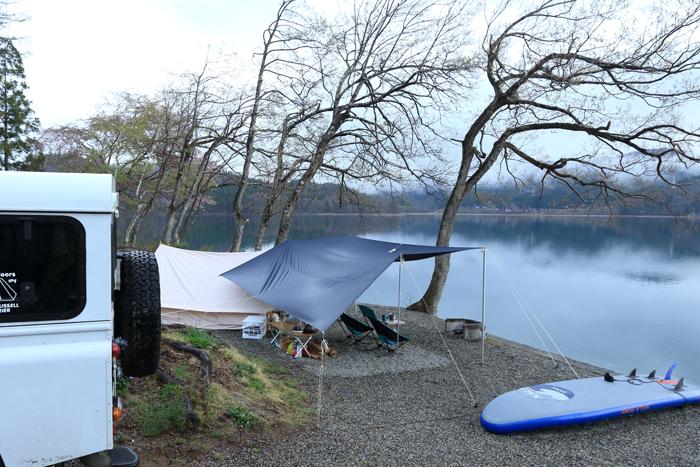 夕方雨キャンプ (1)